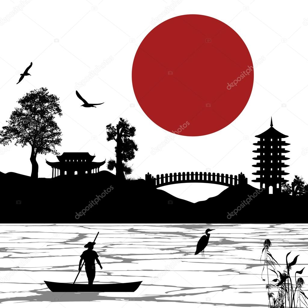 Japanese scenery poster