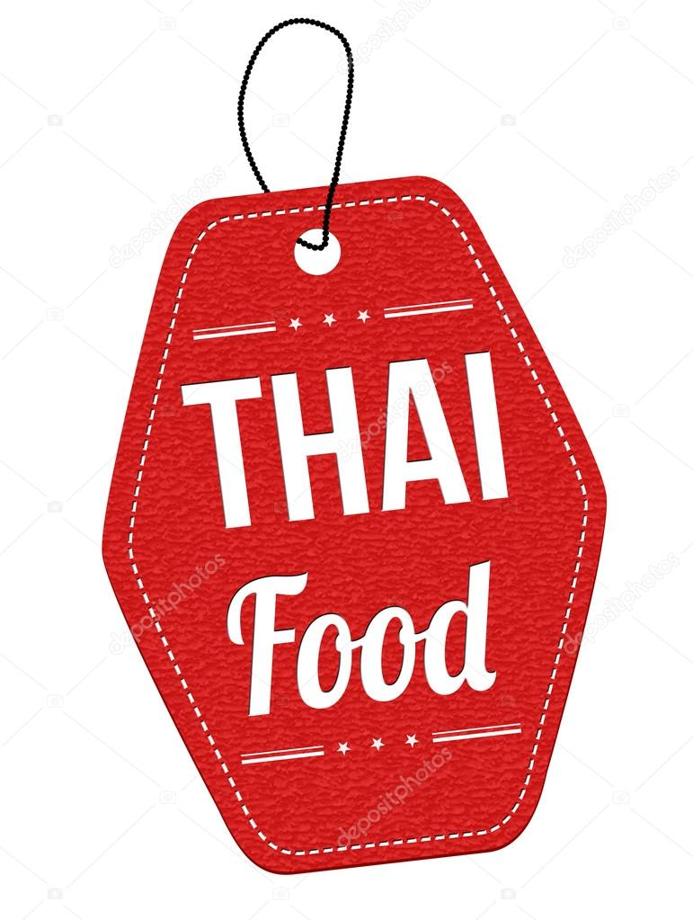 Thai food  label or price tag