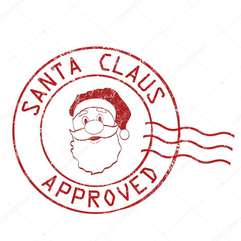 Santa Claus Approved Stamp Stock Vector 169 Roxanabalint