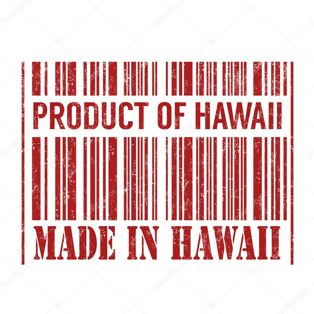 Product Of Hawaii Made In Stamp Stock Vector
