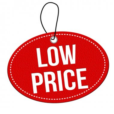 Low price label or price tag