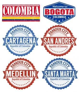 Colombia cities stamps