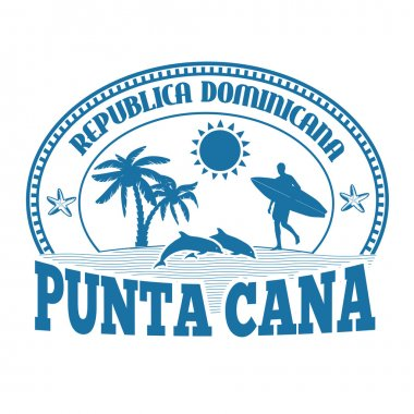 Punta Cana stamp or label
