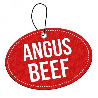 Angus beef  label or price tag
