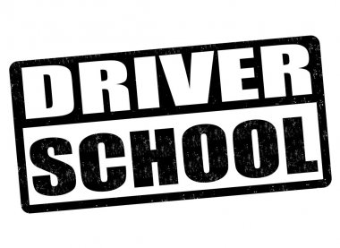 Driving school stamp