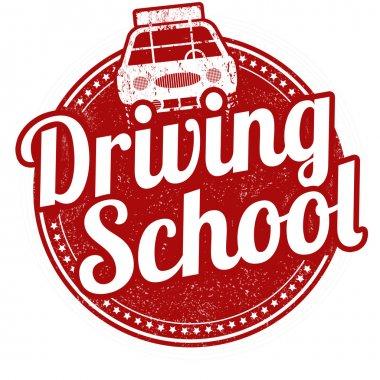 Driving school stamp