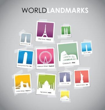 Famous landmarks set