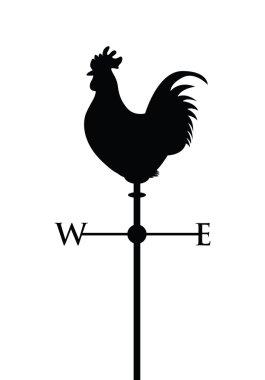 Cockerel on a weather post clip art vector