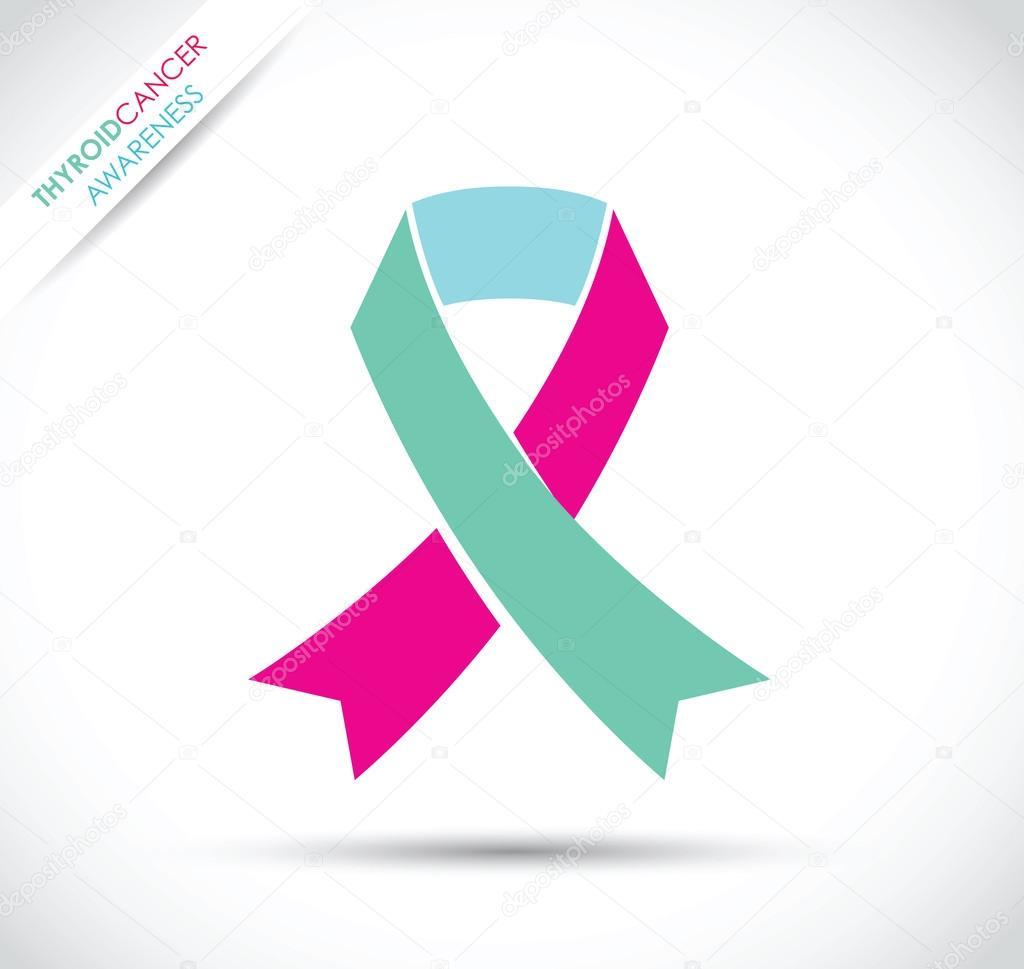 Thyroid Cancer Awareness Stock Vector Jameschipper 112279746