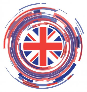 Uk flag abstract icon