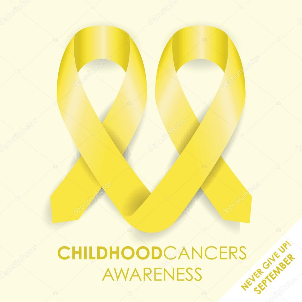Childhood Cancer Ribbon Stock Vector Jameschipper 59623907