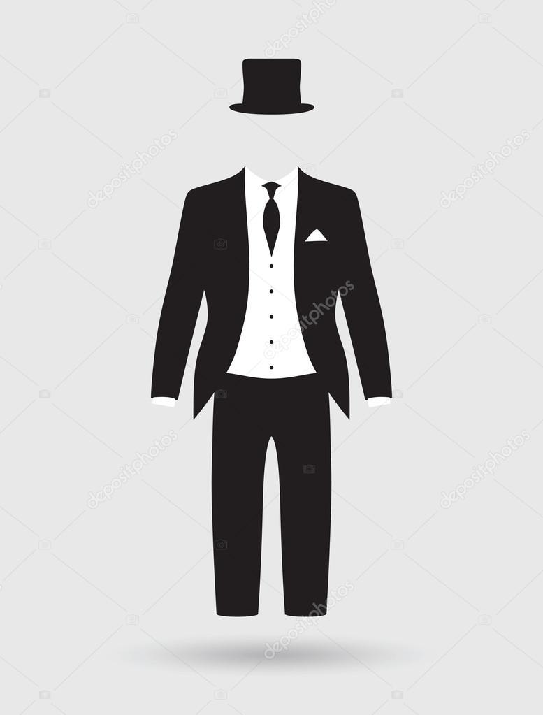 Traje de chaqueta y traje de novios — Archivo Imágenes Vectoriales ... d0cc9bb2006