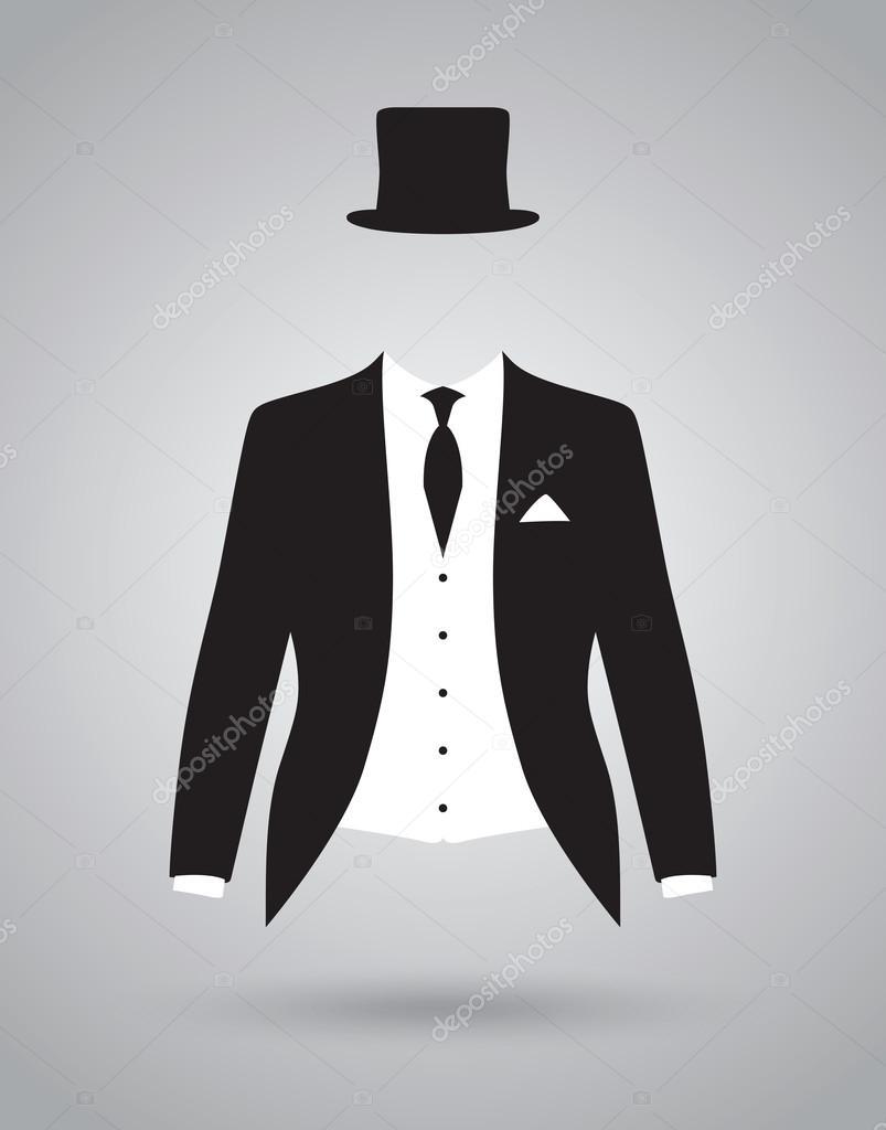 Traje de chaqueta de traje de novios — Archivo Imágenes Vectoriales ... 68b1d0de4bd