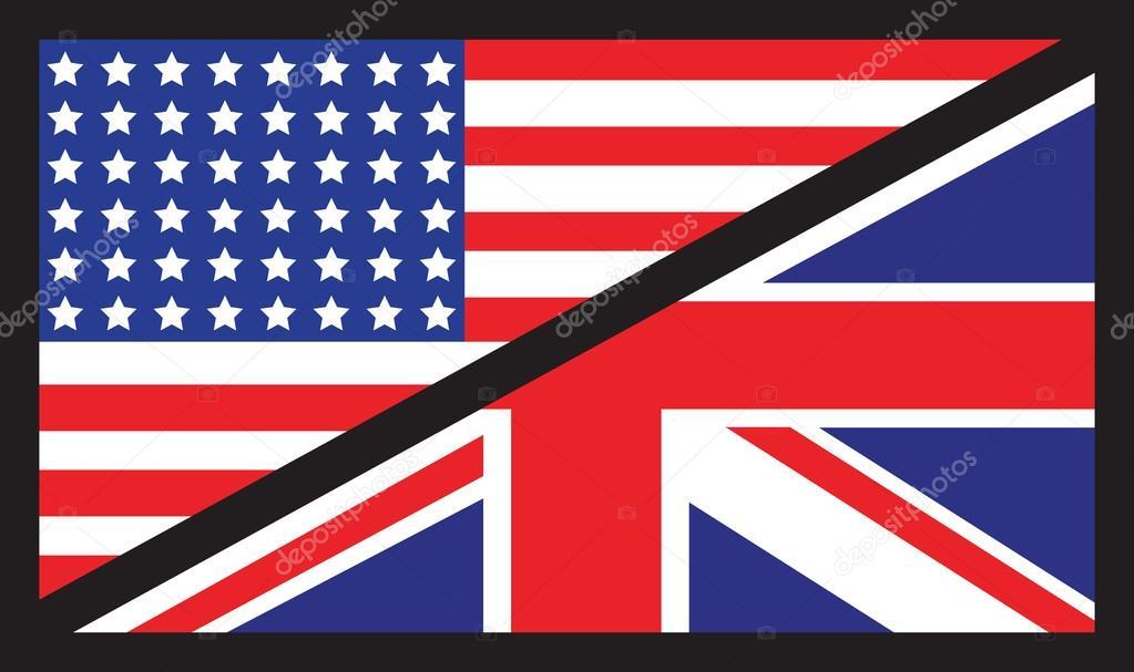 bandera de reino unido estados unidos vector de stock jameschipper 72705941. Black Bedroom Furniture Sets. Home Design Ideas