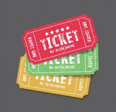set of three tickets