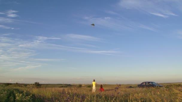apa és lánya, a kite repülő