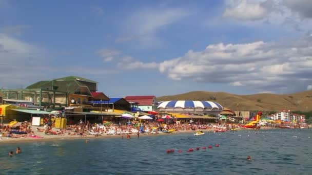 Picturesque Beach With Campers In Koktebel