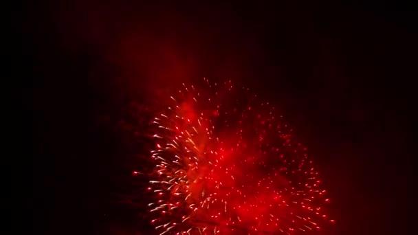 Fantastické ohňostroj vysoko na obloze
