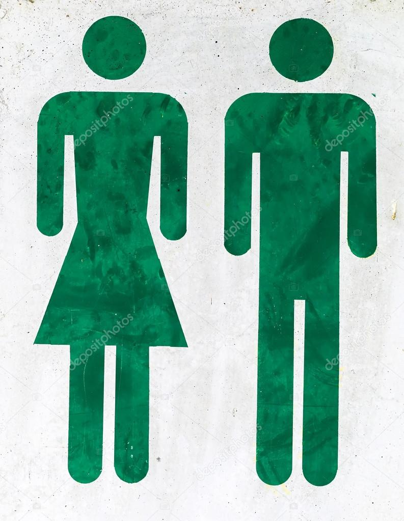 logo man and woman in a toilet — Stock Photo © ginasanders #110171186