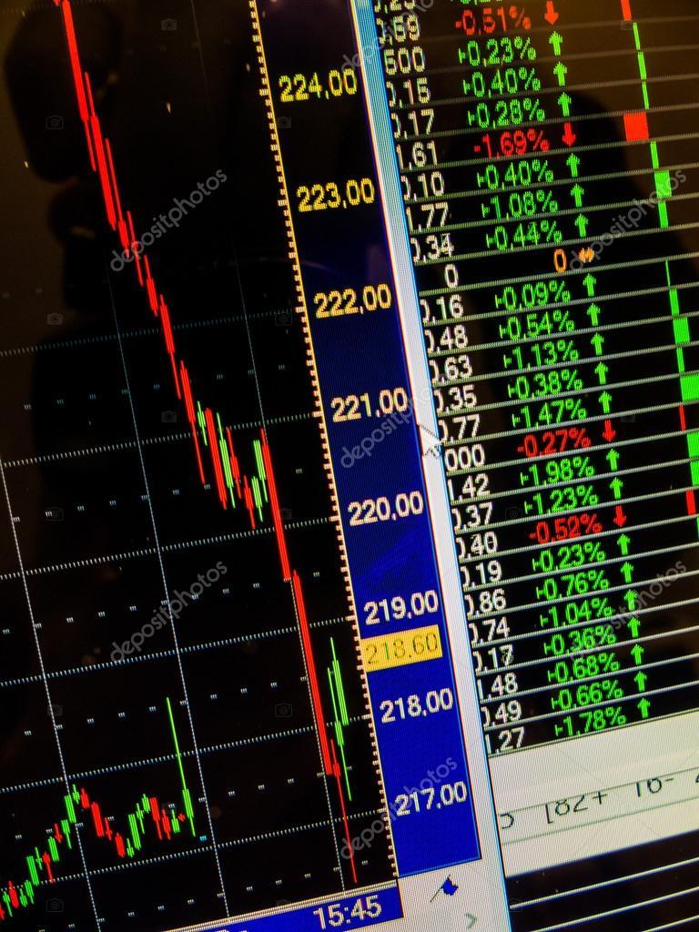 3eec0cb6e2 bruscamente cadere il prezzo delle azioni in borsa — Foto Stock ...