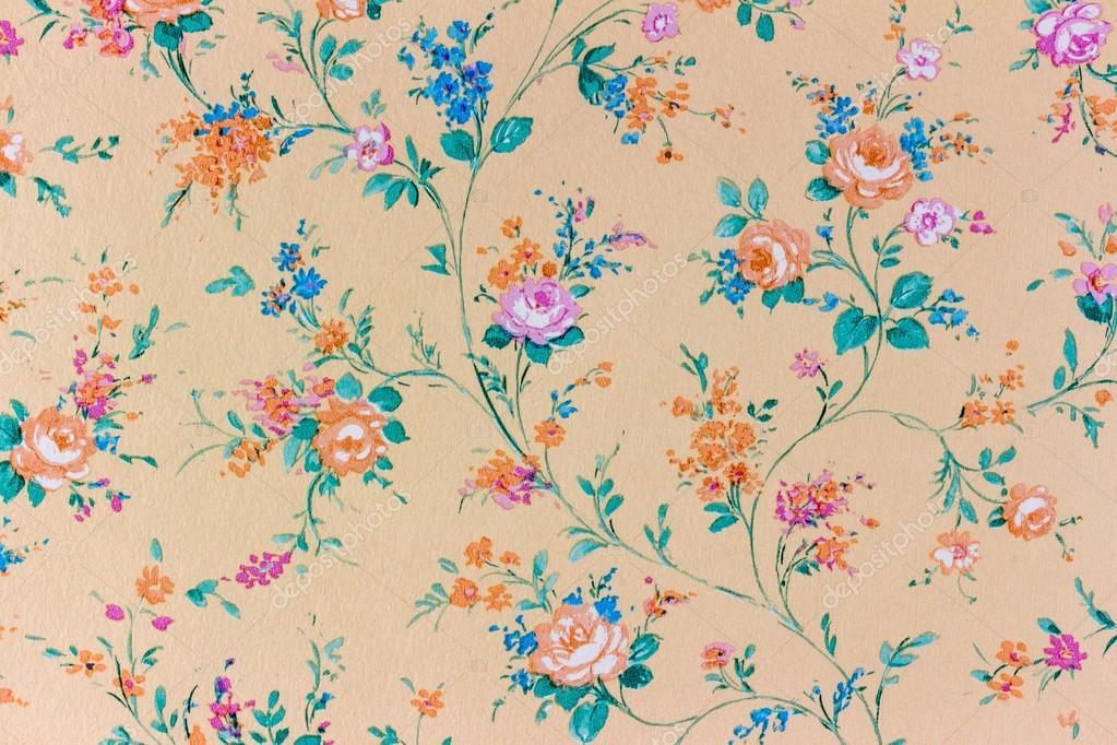 Old retro flowered wallpaper background backgroun stock photo an old retro wallpaper with a floral pattern photo by ginasanders mightylinksfo