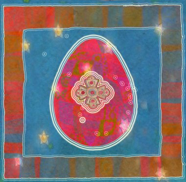 Easter eggs, Colorful watercolor