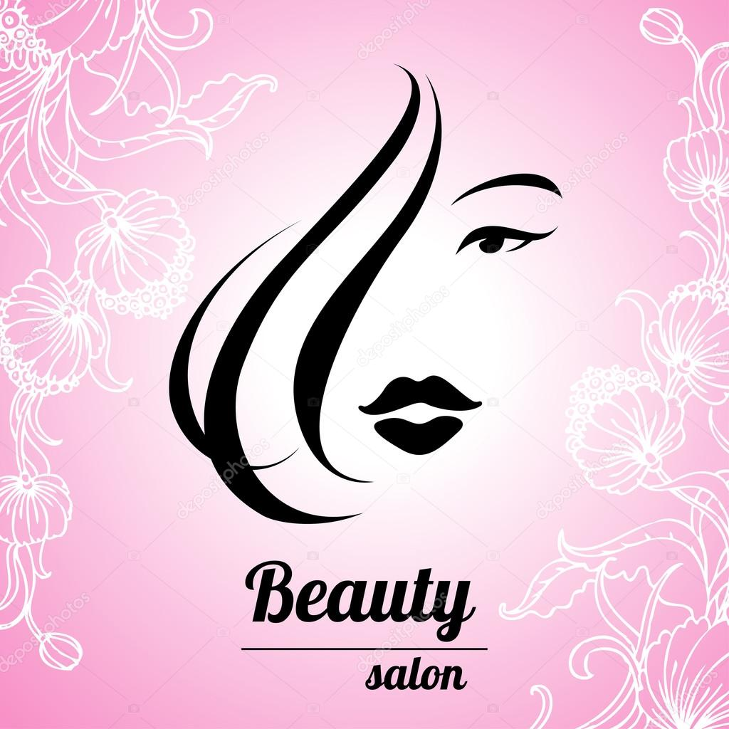 design business card for hair and beauty salon � stock
