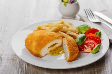 Chicken cutlets with butter on Kiev
