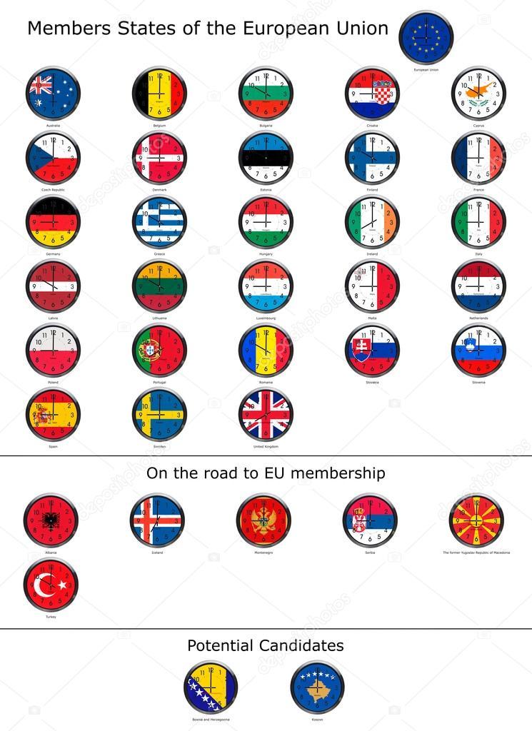 Flag of the world clocks — Stock Photo © jayfish #69501695