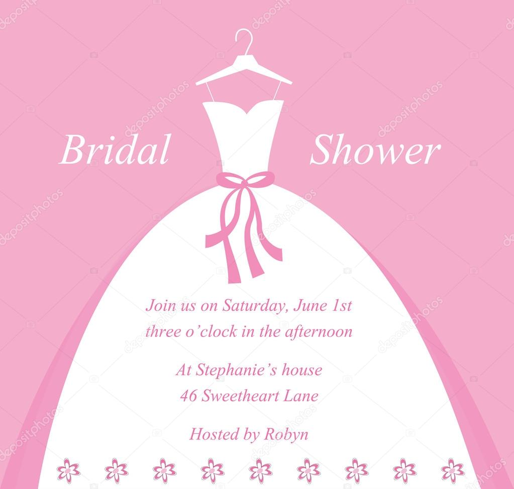 Bridal Shower Invite — Stock Vector © keeweegirl #53355203