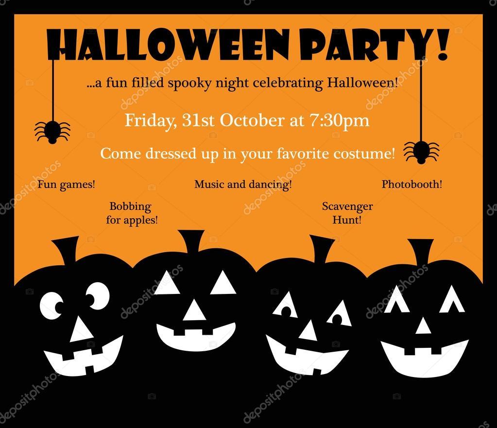 Fabulous Happy Halloween-Einladung — Stockvektor © keeweegirl #53355259 TG59