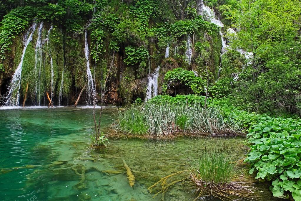 Laghi di plitvice foto stock leonidp 57745543 for Disegni di laghi