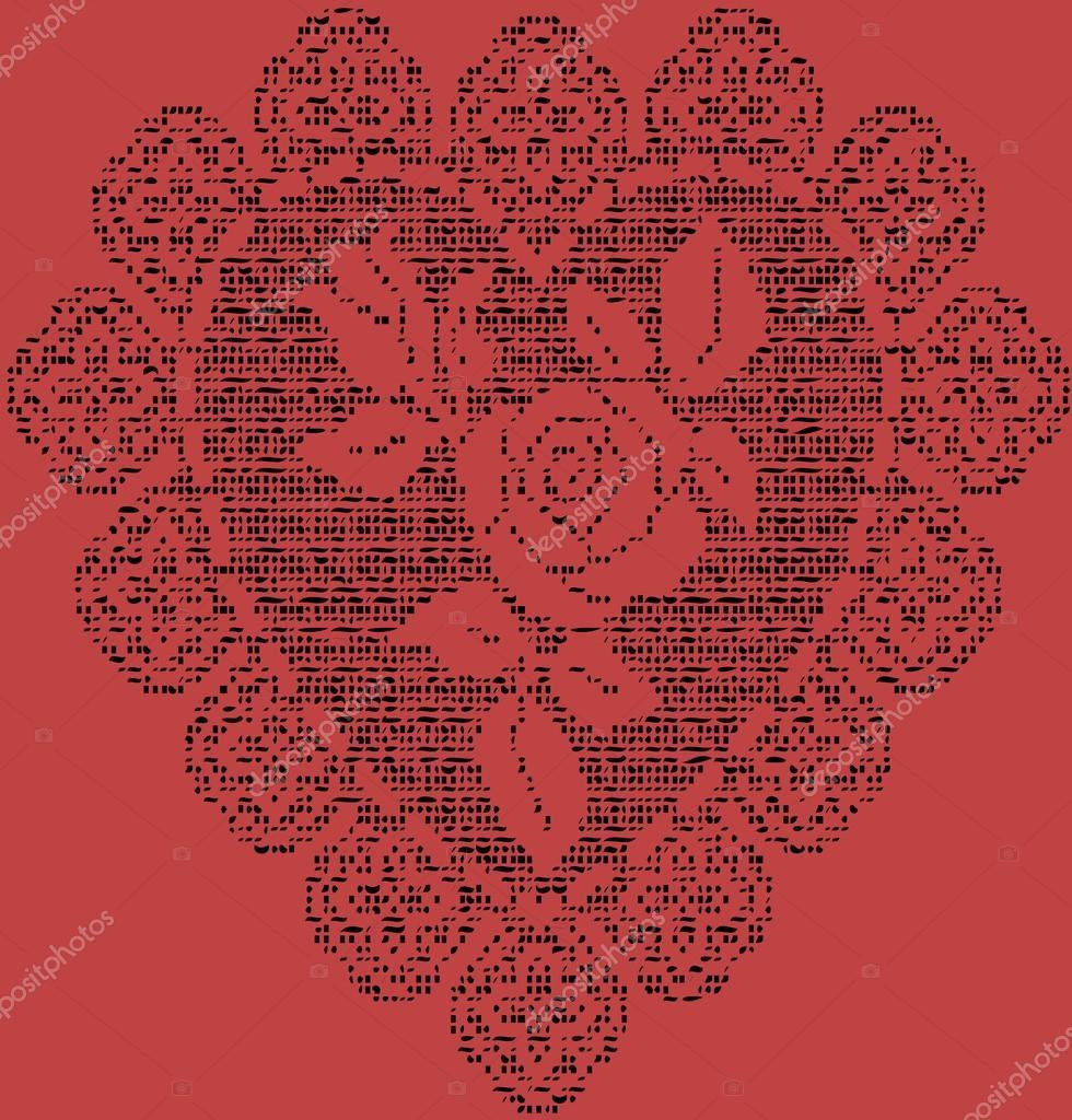 Gehäkelte Herzen Hintergrund — Stockvektor © maryp77 #117632400