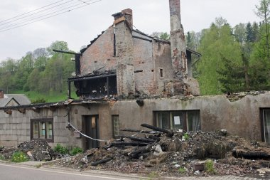 House ruin after fire