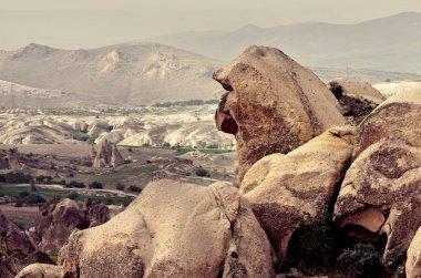mountain landscape  in Cappadocia