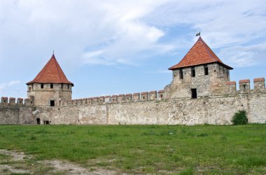 Old fortress on the river Dniester