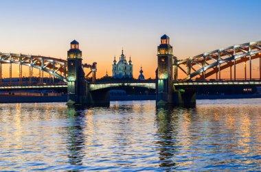 Bolsheohtinskiy bridge and Smolny cathedral
