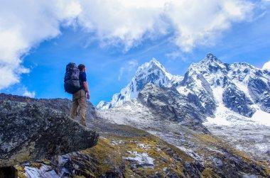 Trekking in mountains, Peru