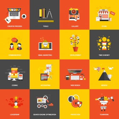 Flat design concept icons