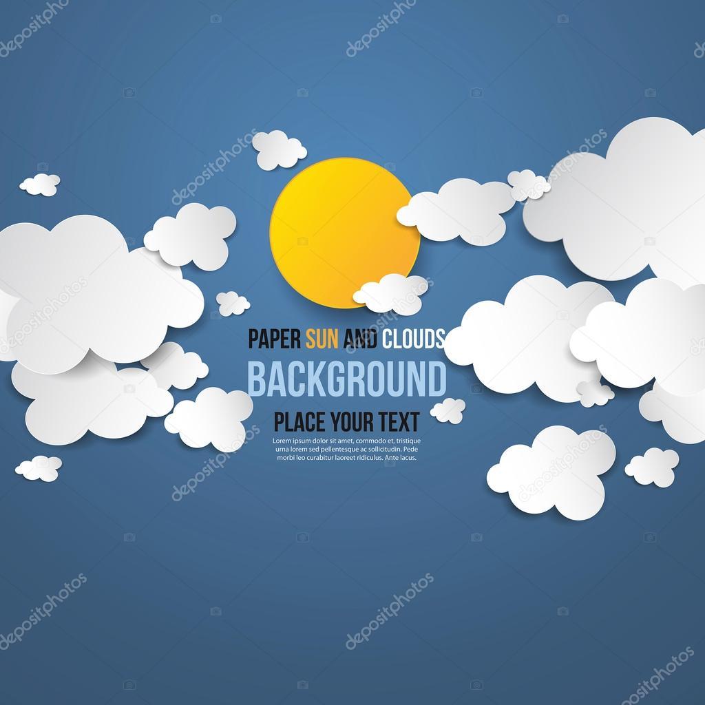 paper clouds concept