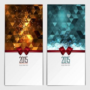 Christmas greeting cards. Place for your text message. Design in modern Christmas colors. Holiday brochure design for corporate greeting cards. vector clip art vector