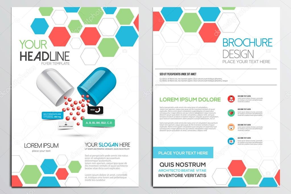 Medical Brochure Design Template Stock Vector Darkovujic - Medical office brochure templates
