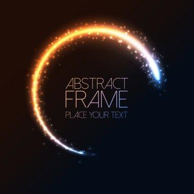 Glittering star dust circle frame