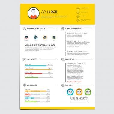 Minimal business infographics elements