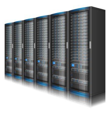 Long row of servers