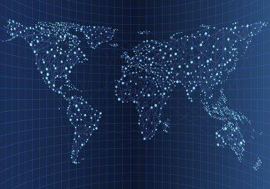 Illustration of world communications