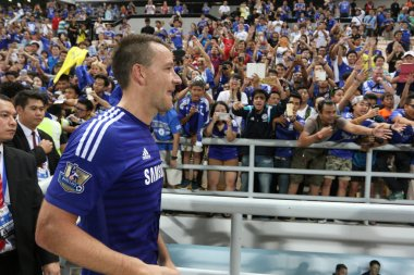 BANGKOK - MAY 30:John Terry of Chelsea in action during Singha C