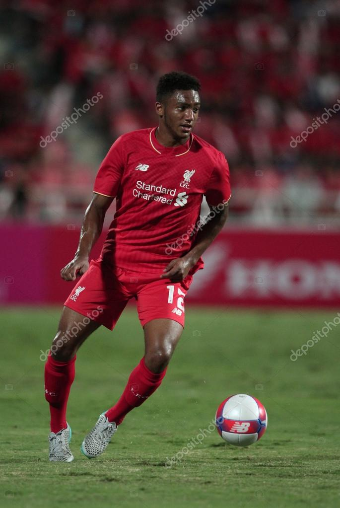BANGKOK, THAILAND - JULY 14:Joe Gomez of Liverpool in action dur