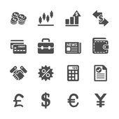 Fotografia insieme dellicona di finanza e denaro, vector eps10