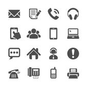 Fotografie communication icon set, vector eps10